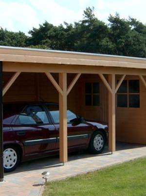 Houten carport en garage