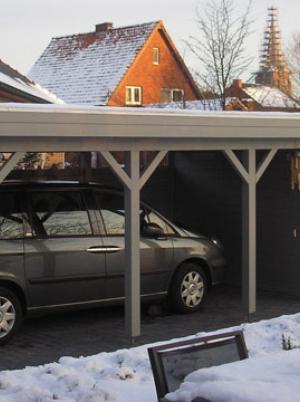 Carport in de winter