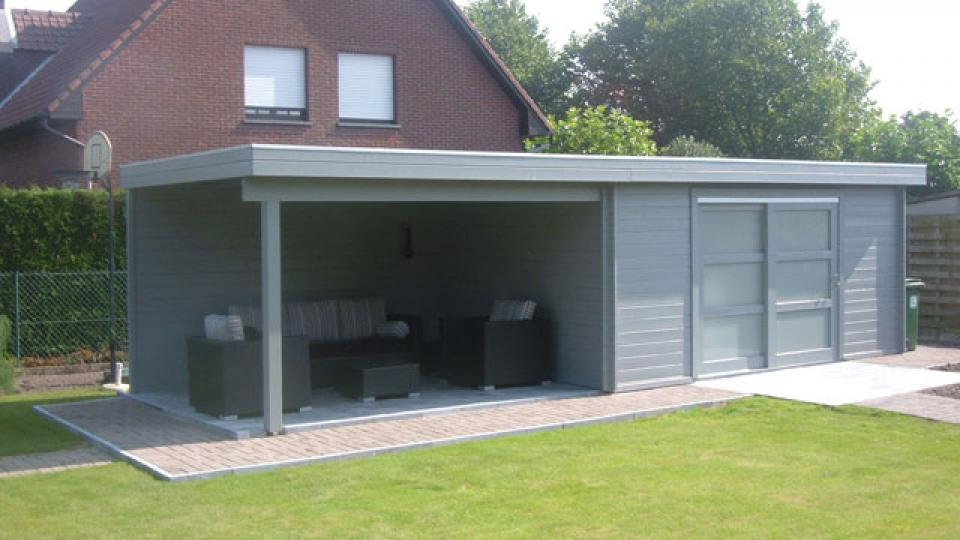 Blokhut met overdekt terras garden special